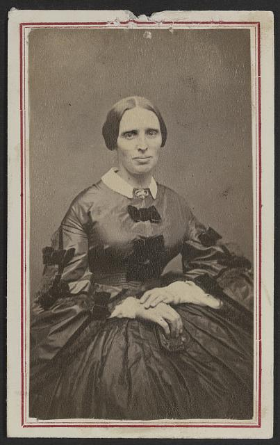 [Unidentified woman, possibly a nurse, during the Civil War]