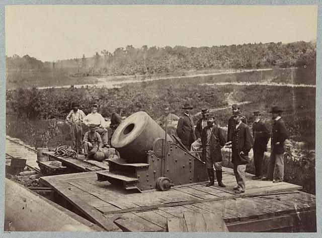 "13 inch mortar ""Dictator"" in front of Petersburg, Va."