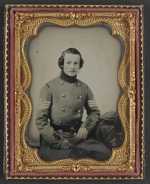 [Unidentified soldier from New York in Union sergeant's uniform]