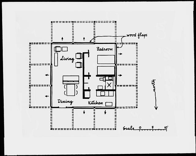 [Walker guest house, Sanibel Island, Florida. Plan]