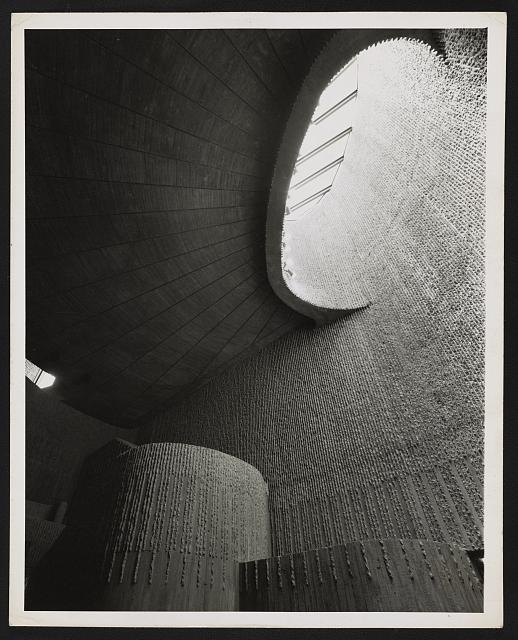 [Boston Government Service Center, Boston, Massachusetts. View looking up toward skylight]
