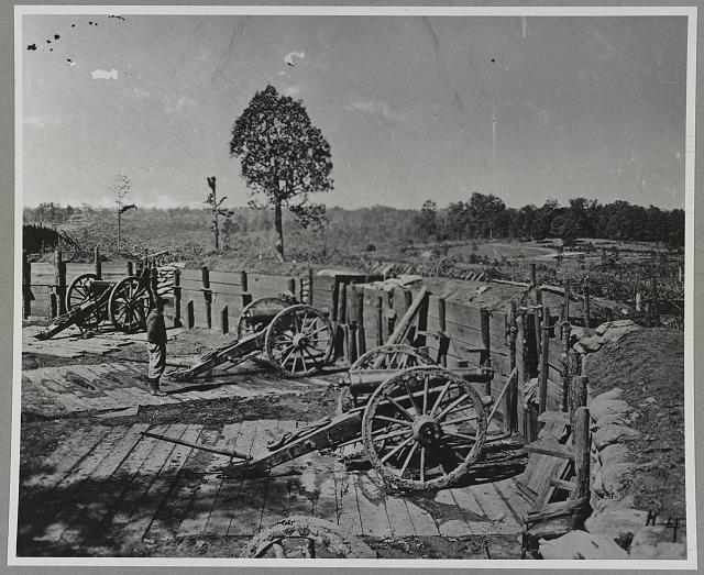 Confederate fortifications around Atlanta, Ga.