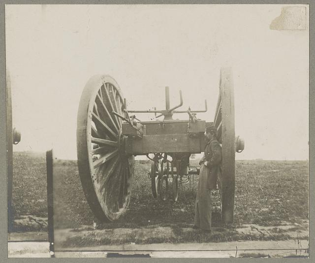Sling cart used in removing the captured artillery, Fort Darling, Drewry's Bluff, James River, Va. April 1865