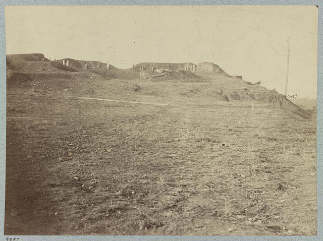 Confederate fort at Manassas, Va. August 1862