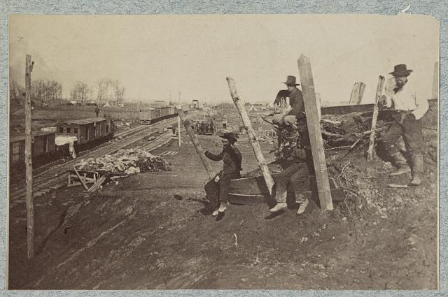 Manassas Junction Va., after its evacuation by the Confederates, March 1862