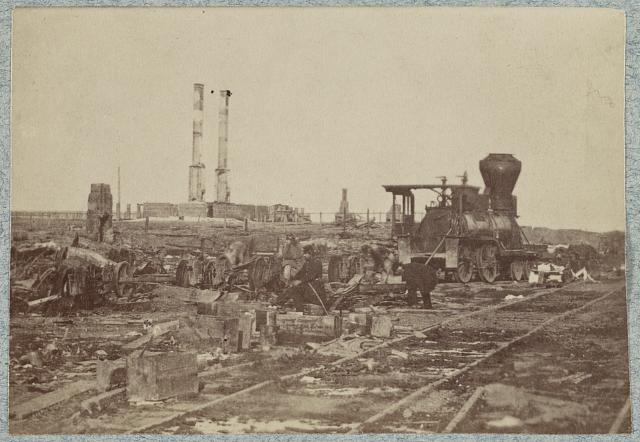 Manassas Junction, Va., after its evacuation by the Confederates, March 1862