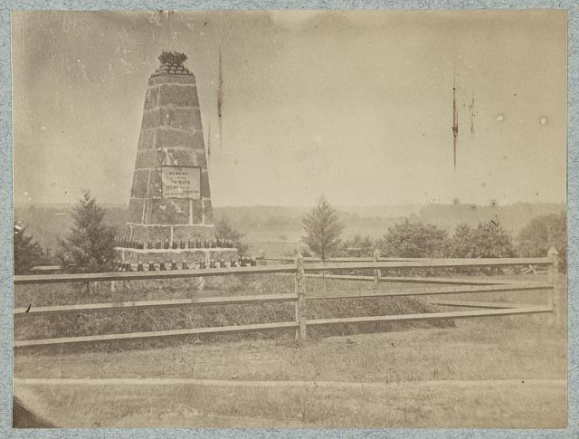 Monument on battle-field of Groveton, Va.