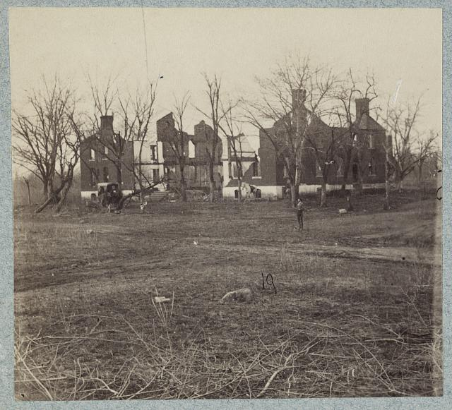 Ruins of Chancellorsville house in 1865