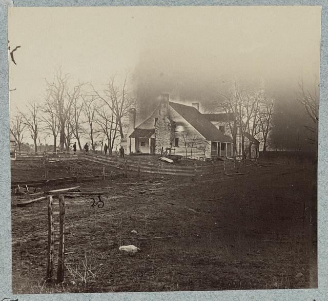 George E. Chancellor's house on Plank Road in 1865