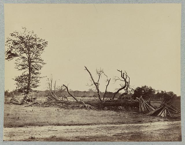 Confederate lines at Cold Harbor, Va.