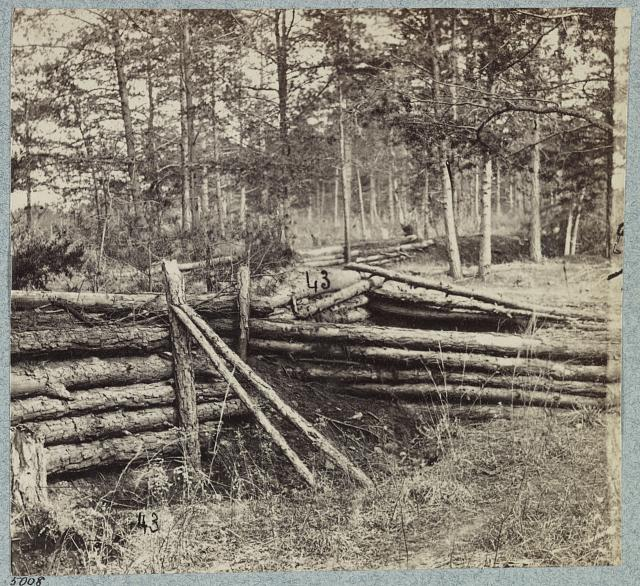 Palmer's field, on Orange Turnpike, Confederate entrenchments at edge of woods