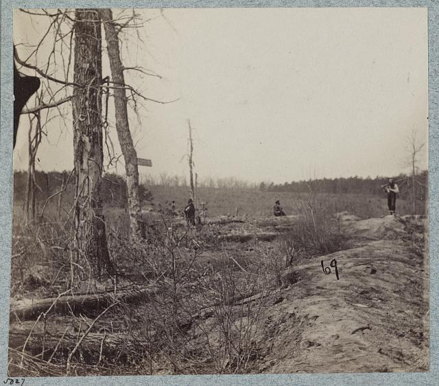 Views on the battle-field of morning of May 12th, 1864, scene of capture of Johnson's Division, C.S.A.