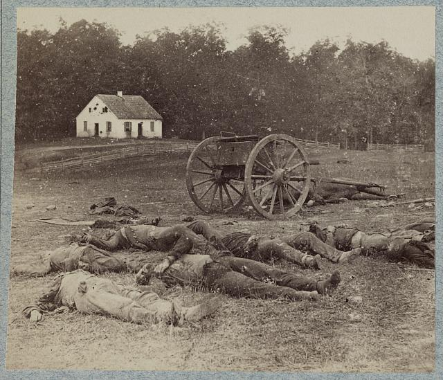 Bodies of Confederate artillerymen near Dunker church