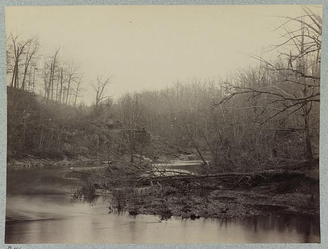 View on Bull Run, crossing of Orange and Alexandria railroad