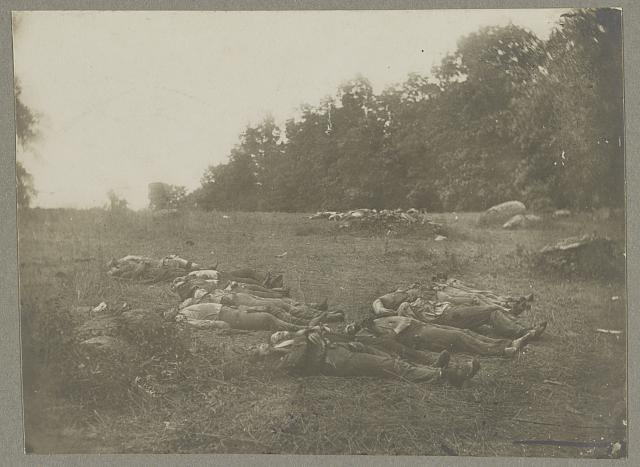 "Dead in ""the wheat field"", Gettysburg"