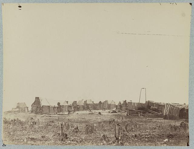 Camp of 3d Pennsylvania Cavalry, in front of Petersburg, Va., February, 1865