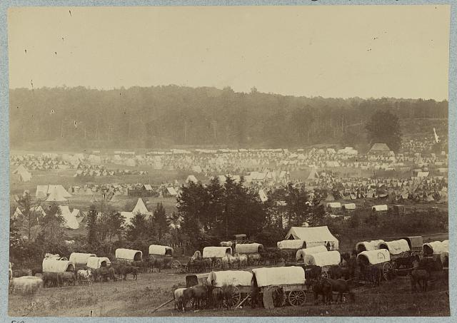 Encampment of Army of Potomac at Cumberland Landing on Pamunkey River, Va., May 1862