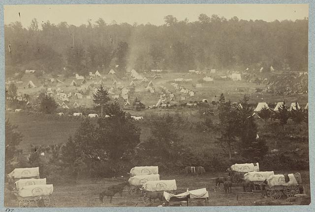 Encampment of the Army of Potomac at Cumberland Landing on Pamunkey River, Va., May 1862