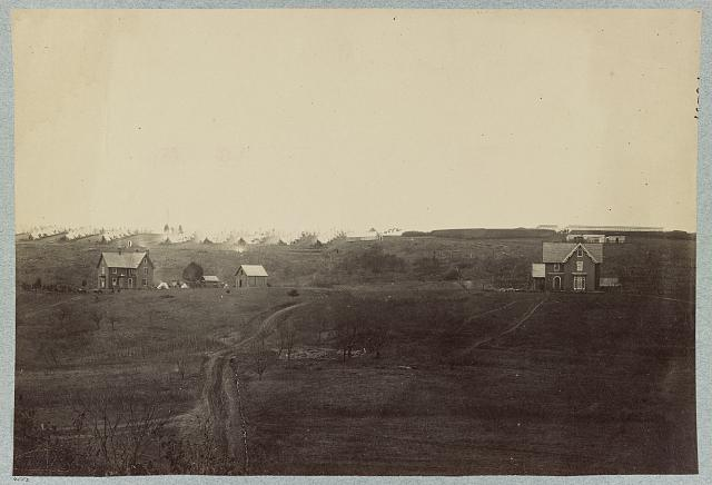 Fort Richardson and Camp of 1st Connecticut Heavy Artillery