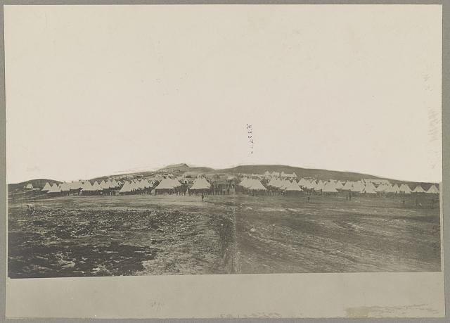 Camp of 40th Mass. Infantry Miner's Hill, Va.