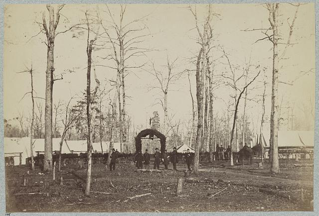 Field Hospital 1st Division, 2d Army Corps near Brandy Station, Va., March, 1864