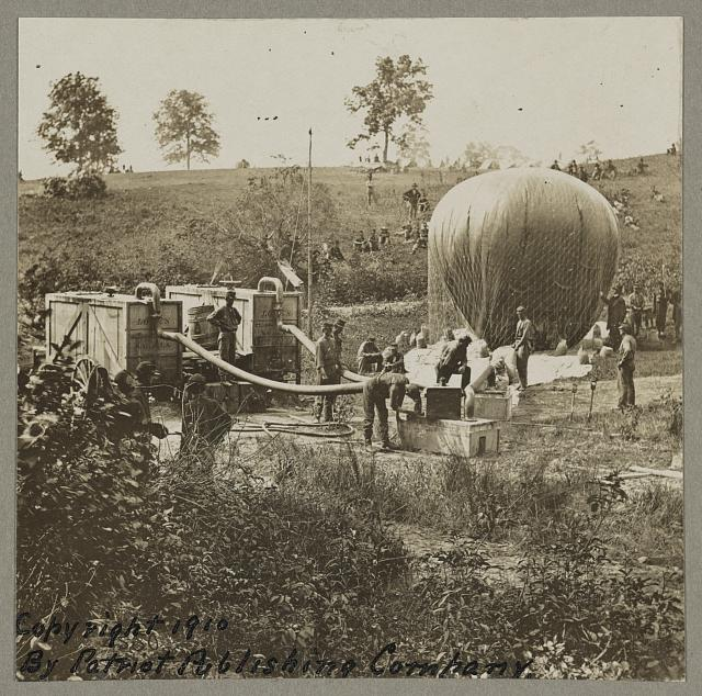 Professor Lowe's military balloon near Gaines Mill, Virginia