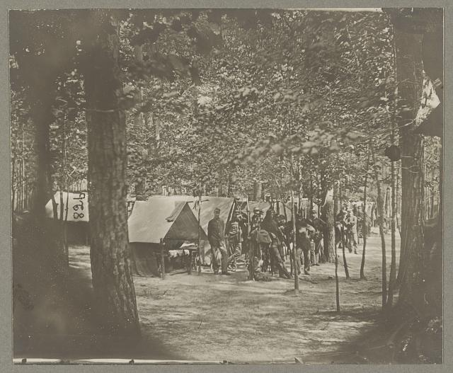 Camps of companies C & D. 1st Mass. Cavalry, in front of Petersburg, Va. Aug. 1864