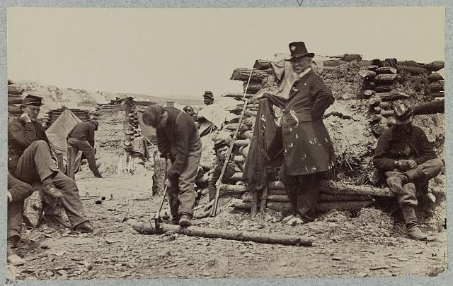 Camp of 110th Pennsylvania Inf'y near Falmouth, Va., Dec. 1862