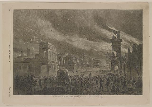 The burning of Columbia, South Carolina, February 17, 1865