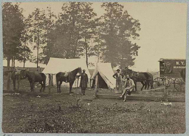 Headquarters of New York Herald in the field (1863)