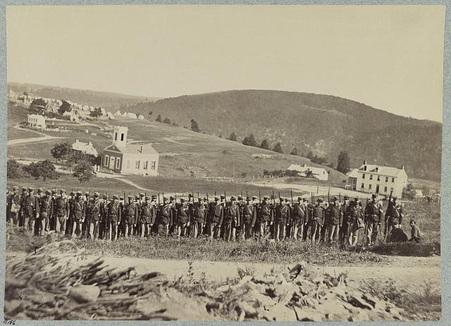 Company A, 22d New York State Militia near Harpers Ferry, Va. (i.e. West Virginia), 1861