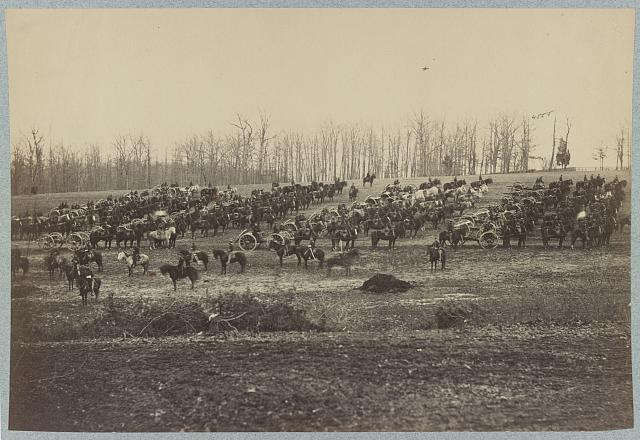 [Horse artillery on parade grounds]