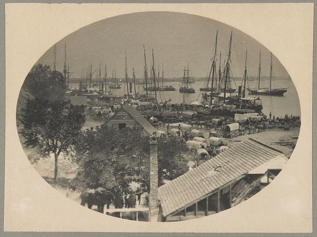 Hist.-Civil War part 5, wharf at City Point, Virginia, 1864-1865