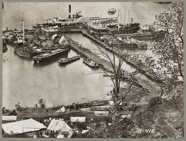 Landing supplies on the James River, Va. 1865(?)