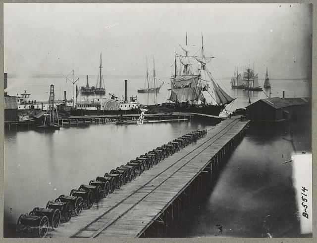 City Point, Va. 1865(?). Magazine wharf.
