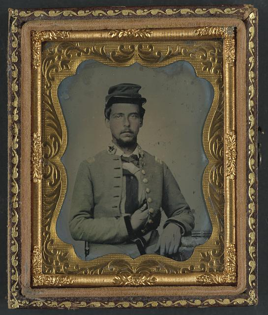 [Unidentified soldier in Confederate major's uniform]