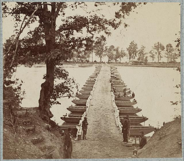 Army of the James, pontoon bridges across James River at Deep Bottom and Varina