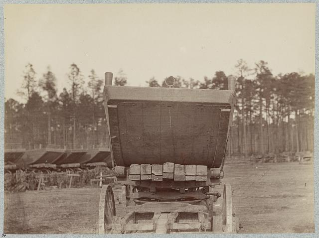 Pontoon wagon and boat, 50th New York Engineers, Rappahannock Station, Va., March, 1864