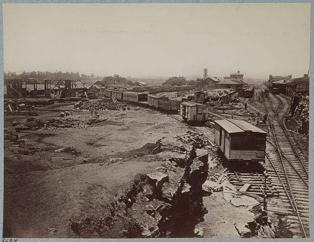 Nashville and Chattanooga Railroad Depot, Nashville, Tenn., March, 1864