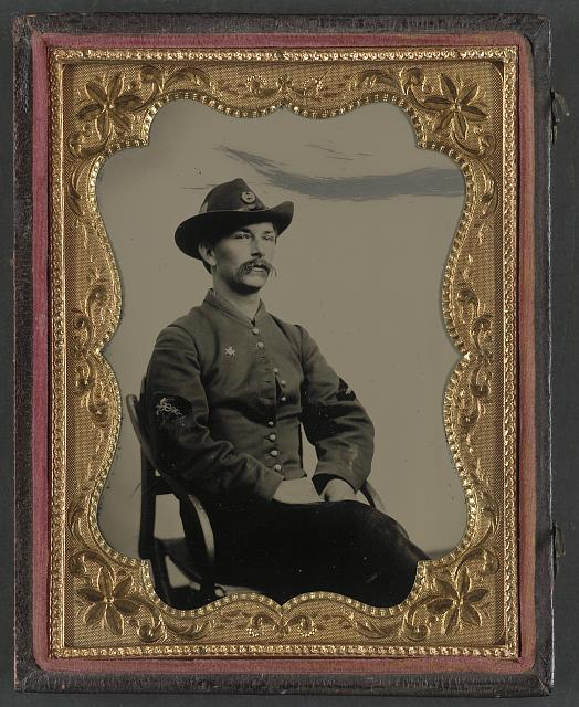 [Unidentified soldier in Union hospital steward uniform]