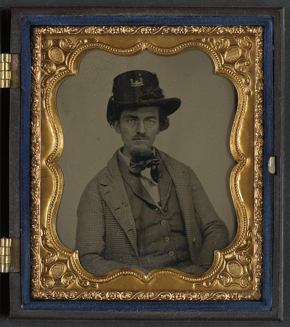 [Unidentified soldier in Union engineer's uniform with Hardee hat]