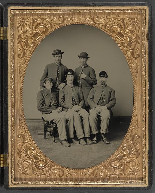 [Five unidentified soldiers in Union uniforms]