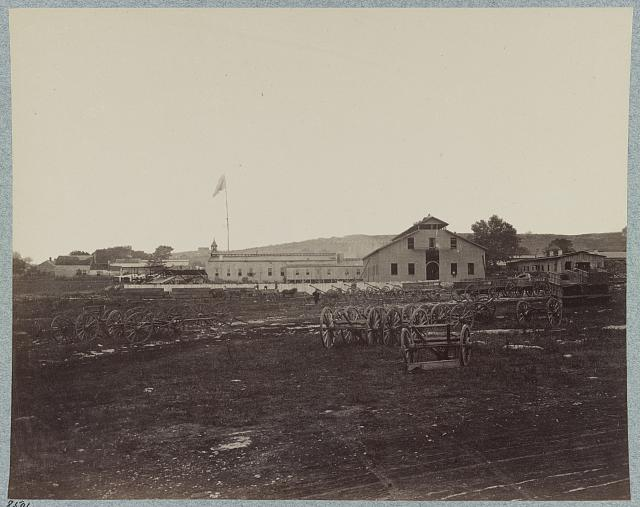 U.S. Quartermaster's repair shops on Nashville Turnpike, Nashville, Tenn., March, 1864
