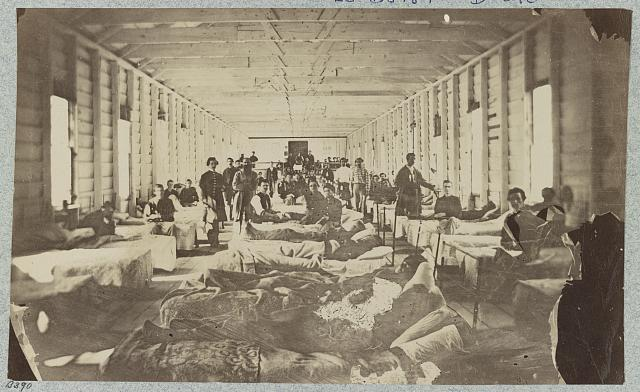 A ward in hospital at convalescent camp near Alexandria, Va.