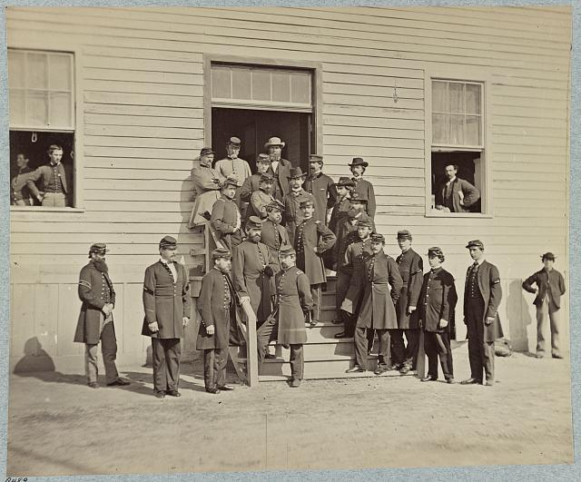 Surgeons and hospital stewards at Harewood Hospital, Washington, D.C.