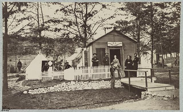 Sanitary Commission at convalescent camp near Alexandria, Va., May 1863 (i.e. Petersburg, 1864?)