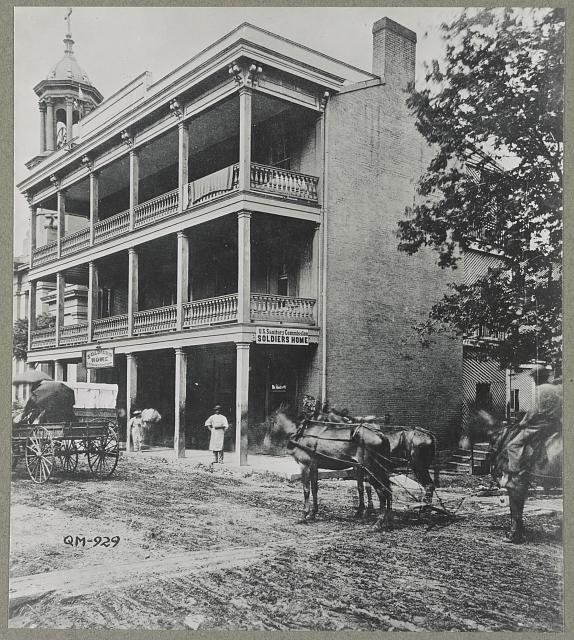 Nashville, Tenn. 1865(?). Sanitary commission, Planters hotel, Sumner Street, known as the soldiers&#39; home