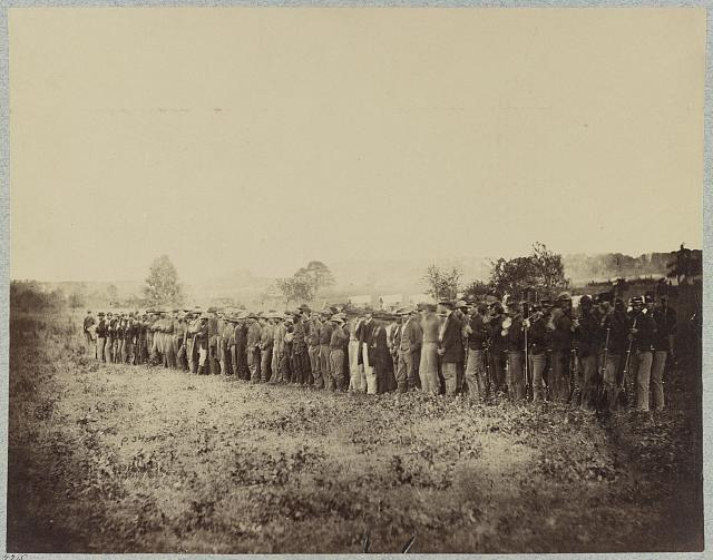 Confederate prisoners captured at cavalry fight at Aldie, Va., June, 1864