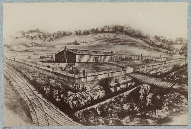 Stockade and prison at Cahawba [i.e. Cahaba], Alabama