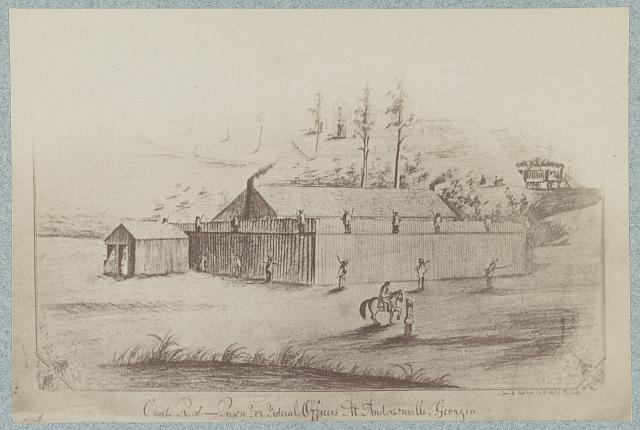 Castle Reed, prison for federal officers at Andersonville, Georgia
